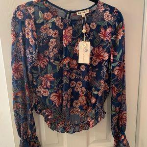 For love & lemons velvet burnout blouse